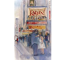 Something Rotten - Broadway Musical - Selfie - New York Theatre District Watercolor Photographic Print