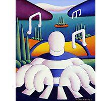 Piano Jazzman Photographic Print