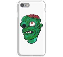 Halloween Green Zombie Brain iPhone Case/Skin