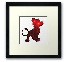 wickedness of a small tiger 2 Framed Print