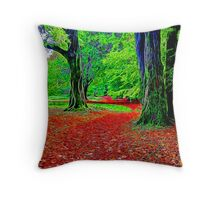 Fractalius Woods Throw Pillow