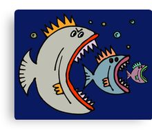 There is always a bigger fish. Canvas Print