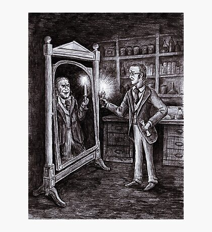 Dr. Jekyll and Mr. Hyde - Dark Mirror Photographic Print