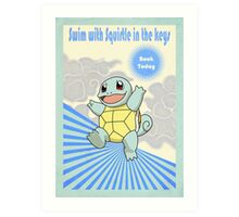 Swim With Squirtle in The Keys Art Print