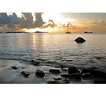 Sunset Long Bay Photographic Print