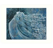 I Am The Storm . with text from Annie Ferguson Art Print
