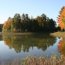 Autumn Island Reflections by John Carpenter