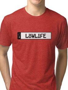 Euro plate simple - lowlife Tri-blend T-Shirt