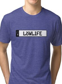 Euro plate simple - lowlife Tri-blend T-Shirt