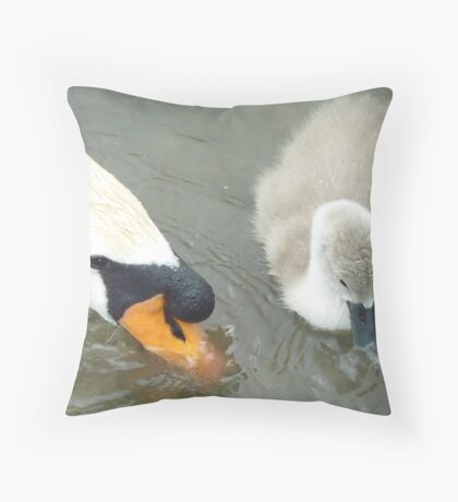 My first pint with dad! Throw Pillow