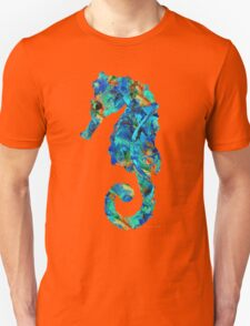 Blue Seahorse Art by Sharon Cummings T-Shirt