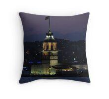 Kızkulesi,Istanbul Throw Pillow