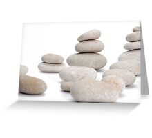 Stacks of smooth pebble stones Greeting Card