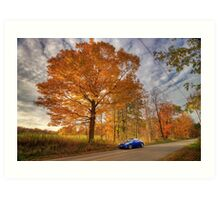 Coupe in the Fall Art Print
