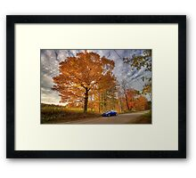 Coupe in the Fall Framed Print