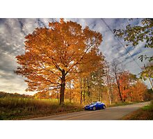 Coupe in the Fall Photographic Print