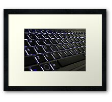 Keyboard with Light Framed Print