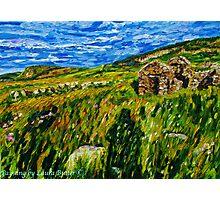 """In Silence Rich and Deep - Deserted Homesteads, Boneyclassagh Clachan, Dunluce, County Antrim""  Photographic Print"
