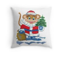 New Year Monkey 2016 Throw Pillow