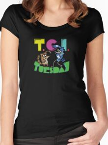 TGI Tuesday Women's Fitted Scoop T-Shirt