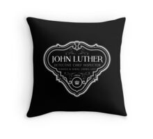 Luther - Badge - White Clean Throw Pillow