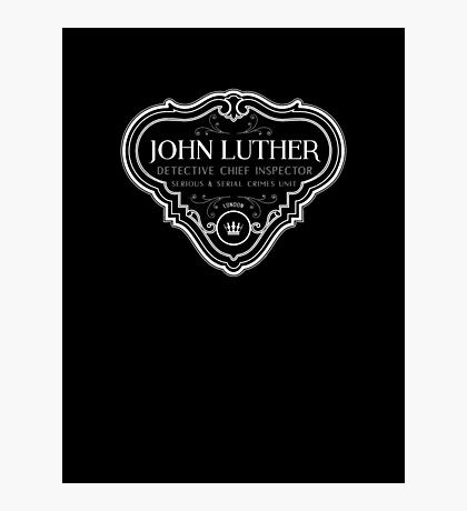 Luther - Badge - White Clean Photographic Print