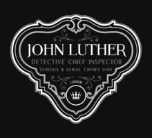 Luther - Badge - White Clean by garudoh
