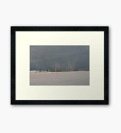 Brodgar Snowstorm Framed Print