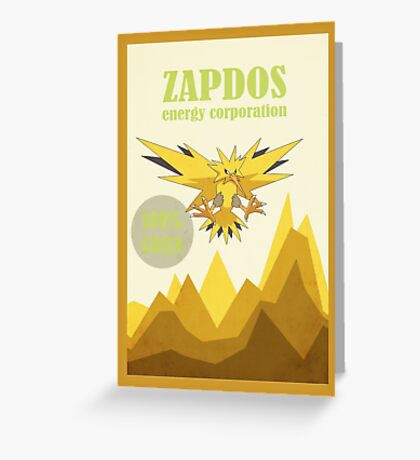 The Zapdos Energy Corporation Greeting Card