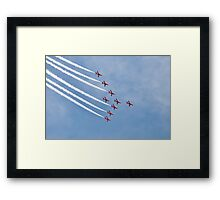 The Red Arrows, Eastbourne Framed Print