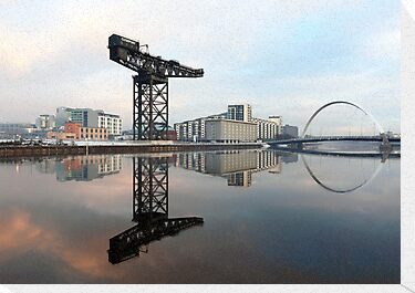 River Clyde reflections by Photo Scotland