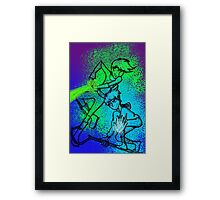 WHITE-HAIRED WONDERS (solid colour) Framed Print