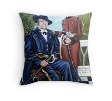 THE GENERAL AND THE  BOY SOLDIER Throw Pillow