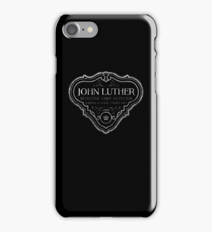 Luther - Badge - White Dirty iPhone Case/Skin