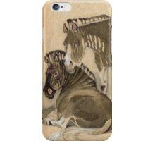 Domestic quaggas iPhone Case/Skin