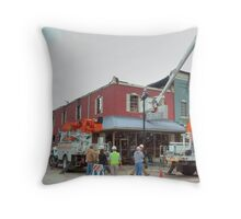 City Cafe After the Fire #2 Throw Pillow