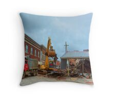 City Cafe After the Fire #3 Throw Pillow