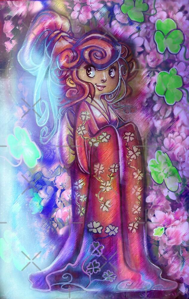 Clovers and Cherry Blossoms Geisha by SaradaBoru