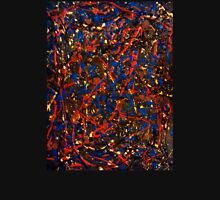 Abstract #10 Chaos in Red & Blue Unisex T-Shirt