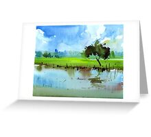 Sky N Farmland Greeting Card
