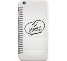 Spiral Bound Notepad iPhone Case/Skin
