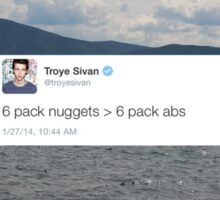 6 pack nuggets > 6 pack abs Sticker