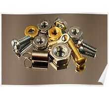 Parts in Nickel and Brass Poster