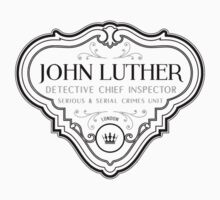 Luther - Badge - Black Clean by garudoh