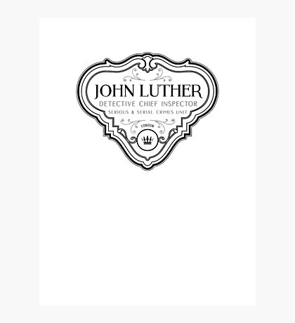 Luther - Badge - Black Clean Photographic Print