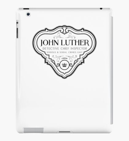 Luther - Badge - Black Clean iPad Case/Skin