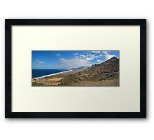 Fuertaventura Panorama Framed Print