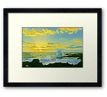 Waves of Morning Rays Framed Print