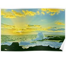 Waves of Morning Rays Poster