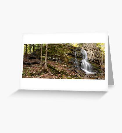Trout Brook Falls - GigaPan Greeting Card